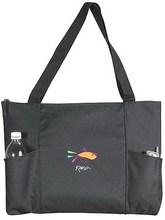 Cheapest customize zipper nylon tote bag
