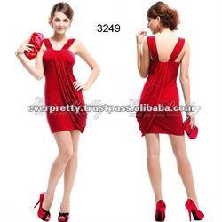 03249RD NWT Stunning Red Ruffles Mini Cocktail Pencil Dress