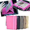9.7 inch For iPad4/For The new iPad 3/iPad 2 Strap Jean Folding Stand Leather Case