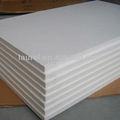 blanco de aislamiento térmico de fibra de cerámica tableros