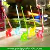 Newest custom-made colorful custom plastic swizzle stick