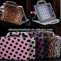 9.7 inch For iPad4/For The new iPad 3/iPad 2 Fur Case Handbag