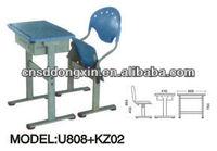 popular adjustable single school furniture U808+KZ02