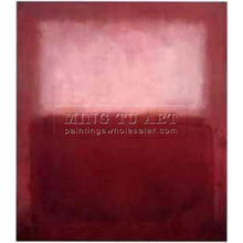 Handmade Mark Rothko Repro abstract Oil painting, White over Red