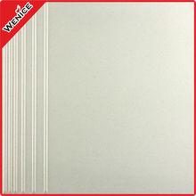 White stair ceramic nose tile, Antibacterial plaza floor tiles 300*300mm