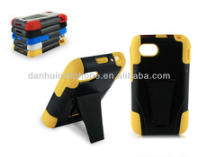 pc silicone hybried case cover and with stand case for BlackBerry Q5(AT&A)