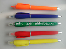 Highlighter with ballpen&2 in 1 ballpoint pen with highlighter is best for gifts or promotional CH-6252