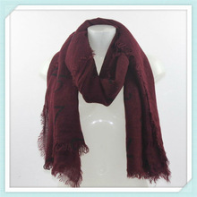 RO2215 2013new style for winter kniting acrylic printed scarf 100% acylic square scarf lady lovely shawl pashmere scarf