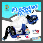 free size color optional roller skate with flashing lights