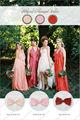 Popular bo2083 halter una- larga línea de estilo de coral de gasa vestido de color de tamaño personalizado hecho de vestir de dama de honor