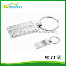 Laser Engraved Wave Key Ring Metal