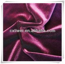 spandex velvet with metallic yarn fabric/90% polyester 10% spandex velvet /korean velvet/cloth fabric