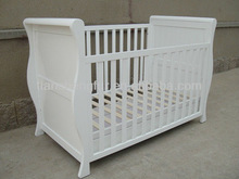 sleigh cot, wooden baby cot bed, baby furniture/Baby crib