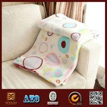 Cute circle printed coral fleece blanket