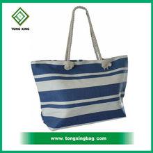 canvas rope handle beach bag