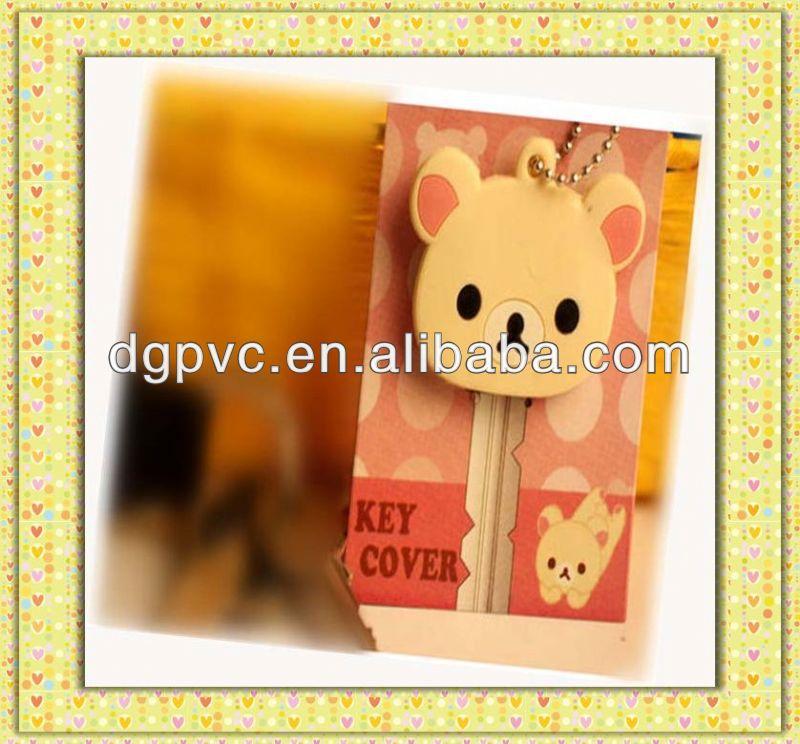 custom friendship rubber soft pvc 3d custom logo novel key head cover