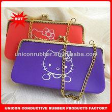 high quality custom logo silicone ladies handbag
