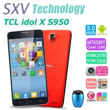 5.0 Inch TCL idol X S950 MTK6589T Quad Core 1.5GHz 2GB/16GB 2.0MP/13.1MP Android 4.2 Capacitive Screen 1920x1080 Pixels