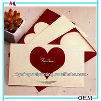 Retro heart shape decoration handmade design gift cards paper envelopes