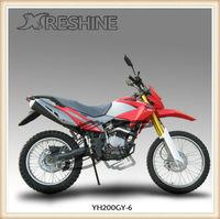 Classical dirt bike RESHINE YH200GY-6 model digital speedometer motorbike for kids