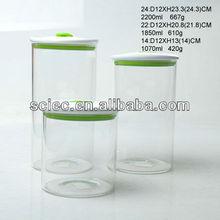 Seal cap glass bottle food storage jar airtight jar with plastic lid