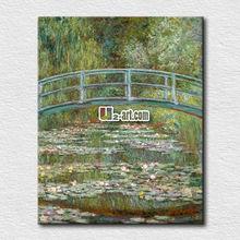 Hot sale canvas prints painting claude monet bridge over a pond of water lilies