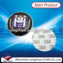 Die Struck Zinc Alloy Chrome Car Badges Emblems Logo Plate Plaque Adhesive Back Logo Brand Emblem