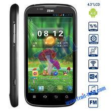 "Black Dual Core 1GHz MTK6577 ZTE V970 4.3"" IPS 960x540 Screen GPS Bluetooth2.0 Wifi"