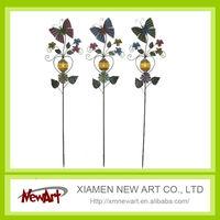 metal garden butterfly solar stake light