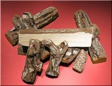 bonfire logs, ceramic logs, ceramic wood, fireplace accessories