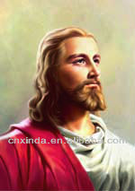 Promotional high quality 3d lenticular plastic picture of Jesus