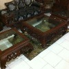 Wooden Coffee Table,Full Carved Glass top Square Coffee Table ,Rosewood Coffee Table