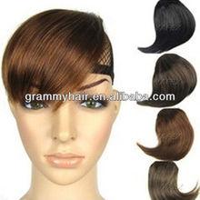 Fashion Fringes Human Hair Clip Hair Bangs