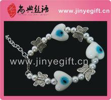 De moda de la joyería hechos a mano pulsera de la joyería del ojo turco
