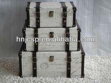Linen set 3 suticases, Fabric storage trunks, set 3 storage trunks
