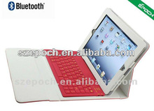 Promotional item smart case cover for ipad with silicone bluetooth keyboard