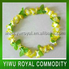 Factory Direct selling hawaiian flower lei,Hawaiian party necklace,Hawaii garland