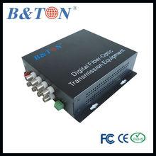Video Transmission 8CH Audio over fiber optic converter Singlemode 20km -Audio data ethernet function optional