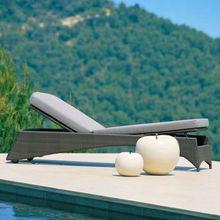 Hotel pool furniture,chaise lounge,rattan sunbed ML-6209