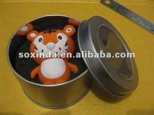 Funny new animal shape tiger usb flash drive wholesale with metal box