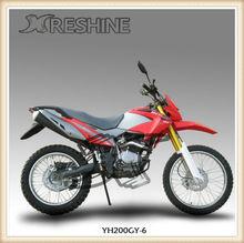 Classical dirt bike RESHINE YH200GY-6 model digital speedometer mini moto dirt bikes for sale