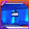 ESI customized white chiffon drapery support for hotel backdrop