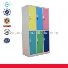 Cheap moveable 6-door locker metal furniture office locker