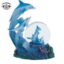 custom snow Globe Dolphin Collection Desk Figurine Decoration