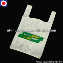 HDPE handle bag with printing for supermarket