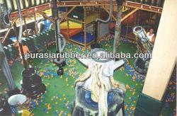 Indoor children playground rubber flooring