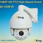 100 meters IR distance Intelligent ip camera full HD 1080p 2.0 megapixel outdoor IP PTZ dome camera