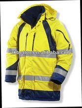EN /ANSI standards ]High visibility windproof winter roadway safety wear/ Construction work wear /blue safety reflective jacket