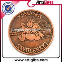 Antique copper cheap customized metal souvenir coin