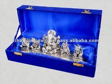 Silver Gifts Musician Ganesha Set, Silver Deepawali Gift